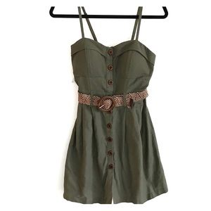 Poetry Army Green Dress